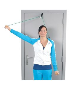 MoVeS Shoulder Rope Pulley with Wooden Handles